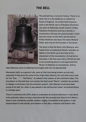 022-20160813_Abberley Norman Church-Worcestershire-old Bell sited at W end of entrance (originally Vestry)-information sheet (Nick Kaye) Tags: abberley worcestershire england church