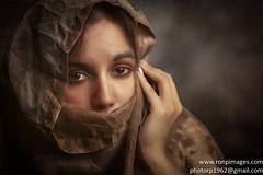War eyes (Photography by Rp) Tags: rpphotographytoronto wwwronpimagescom eyes sad texture afraid strong art artistic portrait female woman scarf hijab