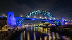 Tyne Bridge (srhphoto) Tags: baltic bluehour gateshead m43 microfourthirds milleniumbridge newcastle newcastlequayside newcastleupontyne olympus olympusmzuikoed714mmf28pro panasonic panasonicdmcgx8 river rivertyne sage tynebridge