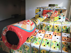 (Sameli) Tags: tank cardboard box war peace art helsinki suomi finland