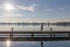 Kralingse Plas (hanneketravels) Tags: skyline rotterdam nederland kralingseplas netherlands winter cycling jogger