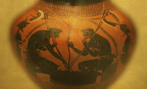 "Petteia - Ludus Latrunculorum  / Iconografía de las civilizaciones helenolatinas • <a style=""font-size:0.8em;"" href=""http://www.flickr.com/photos/30735181@N00/32522203965/"" target=""_blank"">View on Flickr</a>"