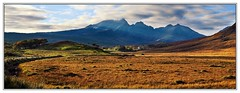 Blaven Panorama (3,6,9 Seconds of light) Tags: road lighting light panorama mountains skye canon landscape eos islands scotland highlands october isleofskye stitch pano scottish panoramic 5d canon5d stitched hebrides elgol stitcher blaven scottishscenery mountainandclouds