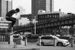 Williamsburg skateboarding (Stefano-Bosso) Tags: street people blackandwhite bw usa ny monochrome sport brooklyn america canon photography mono us blackwhite skateboarding noiretblanc niece flip skate skateboard sk8 streetshot btw streetshoots blackwhitephotos stefanobosso stretchiest