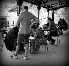 Les joueurs de dames (La galerie de Joséphine) Tags: people woman man paris garden noir play lumière femme jardin nb ombre sénat luxembourg et arrondissement blanc printemps personnes genre homme gens échecs checks dames jeux 6e scène joueurs
