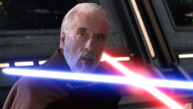 Christopher Lee as COUNT DOOKU in the movie Star Wars Episode II: Attack of the Clones