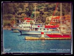 Syvota, Thesprotia, Epiruw Greece (Demetrios Georgalas aka brexians) Tags: travel blue red sea orange sun port boats fishing ships greece picturesque trawler syvota epirus thesprotia