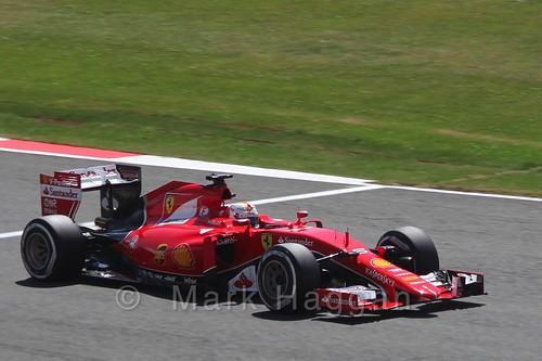 Sebastian Vettel's Ferrari in Qualifying at the 2015 British Grand Prix