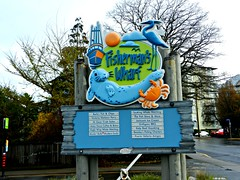 Fisherman' s Wharf (knightbefore_99) Tags: ocean park sea canada west tourism sign island coast spring fisherman bc waterfront harbour capital victoria seal wharf