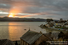 Sunset Over Borth Y Gest, Snowdonia