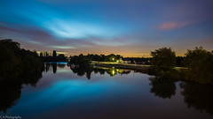 Midnight Motion (C.A.Photogenics) Tags: uk colour beautiful night contrast river dark long exposure sony surrey midnight chertsey a6000
