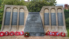 """Memorial to the 617 """"Dambusters"""" squadron, British Royal Air Force.  In memory of those who gave their lives,  for the freedom of others, during the 2nd world war. Woodhall Spa,  Lincolnshire (Bomber County) (n.varty) Tags: memorial lincolnshire british raf worldwar2 2ndworldwar airmen woodhallspa royalairforce lancasterbomber 19391945 617squadron"""