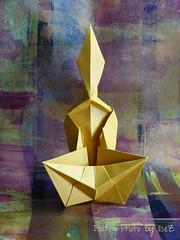 Praying Monk by James Minoru Sakoda (esli24) Tags: origami prayingmonk esli24 ilsez modernorigami jamesminorusakura