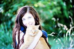 christine and hammy =^-^= (sugarelf) Tags: mycat naturallycurlyhair meandhammy