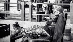 feet up (WITHIN the FRAME Photography(5 Million views tha) Tags: street male waterfront candid capetown relaxed gazing seated 50200mmlens nx300