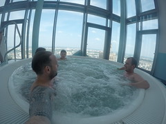 Our jacuzzi in The hotels top floor!