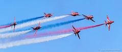 Red Arrows (DrAnthony88) Tags: aircraft smoke bluesky redarrows royalairforce raffairford nikond810 modernmilitary nikkor200400f4gvrii royalinternationalairtattoo2015 riat2015