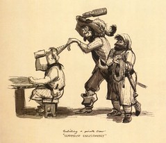 Surprise Enlistment (Tom Simpson) Tags: illustration vintage disneyland pirates disney pirate 1960s piratesofthecaribbean conceptart marcdavis enlistment imagineer vintagedisney