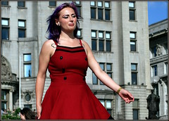 Modelling maroon (* RICHARD M (Over 5 million views)) Tags: street beauty fashion liverpool model glamour pretty maroon candid style attractive glam classact scousers modelling pierhead classy glamorous merseyside capitalofculture headturner glamourgirl europeancapitalofculture liverpudlians headturning tintedhair maroondress purpletints maritimemercantilecity onemagnificentcity theverybigcatwalk