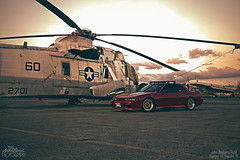 Clearing The Space. (aaron_boost) Tags: canon airplane hawaii airport nissan aircraft navy silvia canon5d canoneos airstrip 240sx scca nismo coastgaurd s13 sr20det trackdays garagelife aircraftmechanic johnrodgersfield s13coupe builtnotbought schassis trackready aaronboost silviafront sccahawaii silviarepublic aaronboostgarage 240sxforums aaronboostphotography aerobumper s13aero