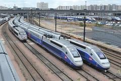 SNCF TGV 15 - 809 - 805 (Will Swain) Tags: city travel paris france train de french grande europe boulevard lyon gare south transport july rail railway 15 trains des east 14th 805 railways franais socit parisian tgv fer sncf 809 vitesse nationale europen 2015 chemins poniatowski sudest technicentre