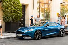 Aston Martin Vanquish (EstebanPhotographie) Tags: blue paris luxury supercar champselyses astonmartin v12 gv georgev george5