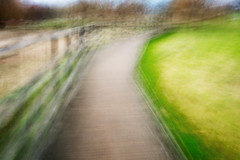 Decking Path (deceptive) Tags: abstract fence grass green longexposure motion path