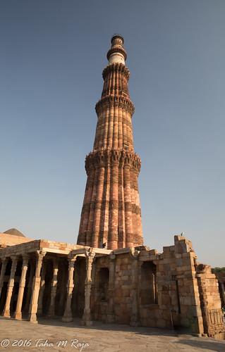 Qutub Minar near Iron  Pillar