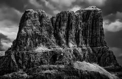 Monte Averau - 2649 m (Eric@focus) Tags: noiretblanc blackwhitephotos manipulation newsky dolomites skancheli neroametà