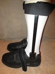 Size 11 Mens Wide Brace Shoes Listed with Both Sets of Braces (KAFOmaker) Tags: brace braces braced bracing afo kafo leather metal orthopedic caliper calipers orthese orthotic orthosis orthoses orthosen fetish bound bondage restraint restraints restrain restraining