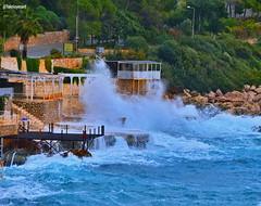 An itibariyle kaş'da son durum ☔ As of now the latest situation at sea☔  1✏#dalga 2✏#deniz  3✏#fırtına 4✏ #beach 5✏#küçükçakıl 6✏#storm (teknisyenarif) Tags: deniz dalga storm küçükçakıl beach fırtına