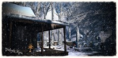 Twilight Moon - Tenant's Outside Decor (☀Vita Camino☀) Tags: secondlife giardini vita lisp winter snow caminosim autumn fall slur visit rent location rustic cozy gacha 8f8 applefall