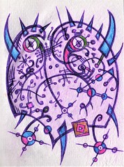 Shell Shock (darksaga66) Tags: bookofink penandink inkart art myart doodle