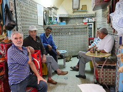 Tea shop in the souk, Tunis.