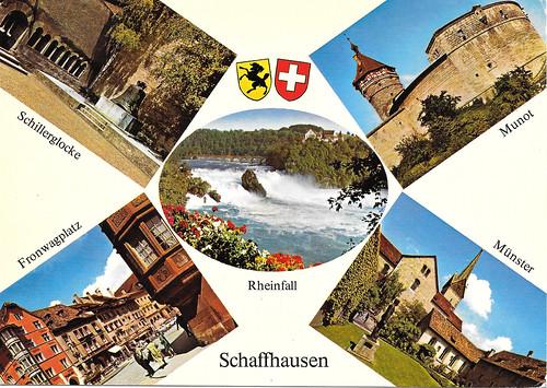 1979 kaart Schaffhausen Rheinfall