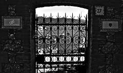 """""""The Gate Twenty-Seven"""" (giannipaoloziliani) Tags: cancello gate biancoenero blackandwhite portofino country mare sea paese liguria italia italy monocromatico monochrome nikon nikoncamera nikond3200 nikonphoto nikonphotography orizzonte horizon boats barche muro wall stones pietre mattoni cielo sky skyline panorama landscape view vista vistamare seaview flickr prospettica prospettiva perspective dark darkness hard strong strange shadows ombre buio scuro oscuro obscure"""