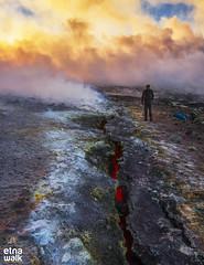 Southeast Crater / Sunset (Etna Walk) Tags: etna etnawalk walk lava crater volcano volcanology geology nature outdoor science sicilia sicily fracture fissure trekking hiking excursion explore