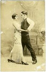 Couple Dancing (kevin63) Tags: lightner photo blackandwhite twenties 20s couple dancing studio posed woman man bobbedhair