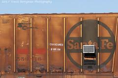 Retired Santa Fe Boxcar at Amboy, CA (Travis Berryman) Tags: bnsf needlessub desertrailroading bagdad cadiz siberia
