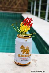 Original Singha Beer (charlotte.dubreuil) Tags: thailand thailande bangkok kohsamui beer biere piscine swimmingpool holidays trip travel flower fleur canon canonphotography eos6d singha