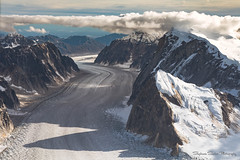 Glacial Highway (Stephanie Sinclair) Tags: nationalpark usdepartmentoftheinterior aerialphotography alaska clouds findyourpark glacier mountains seattleempress stephaniesinclairphotography aerial denalinationalparkandpreserve denali talkeetnaair