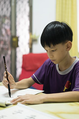 20160730_Caligraphy with Grandpa-13 (kiweep7) Tags: calligraphy brushpen grandparents