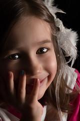Little girl portrait (romain_mourer) Tags: amour black blanc blond brown brun cheveux children coiffure dream enfant eyes fille girl hair hairdressing look love noir pensée pink portrait regard rose rêve smile sourire studio tenderness tendresse thought white yeux