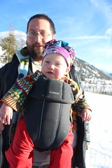 Andy and Paul (quinn.anya) Tags: sandharbor andy paul toddler snow carrier