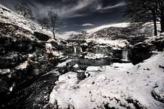 Three Shires Head (PentlandPirate of the North) Tags: threeshireshead waterfalls pack horse bridges snow river derbyshire cheshire staffordshire