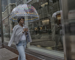 Market Street - 2016 (Alan Barr) Tags: philadelphia 2016 marketstreet marketeast marketstreeteast umbrella reflection reflections street sp streetphotography streetphoto color candid people rain ricoh gr