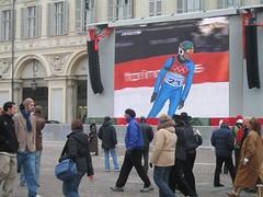 Big tv where you can watch the Olympics in Piazza San Carlo (Rachel Says Hi) Tags: winter torino 2006 olympics piazzasancarlo