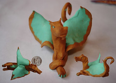 elisse (thyladyinred) Tags: sculpture art dragon figurines fantasy clay sculpey