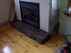 Fireplace and Hearth in progress (Hardy-Har-Har) Tags: fireplace progress hearth