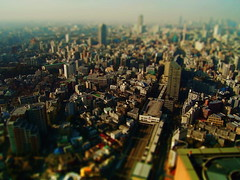 Study: Honjo's style 2 (kala-pattar) Tags: city topv111 japan train photoshop fun miniature model focus photoshopped fake shift mini topv222 tilt ts minature fakes miniture tiltshift faketiltshift tiltshiftfake fakemodel kalapattar0415